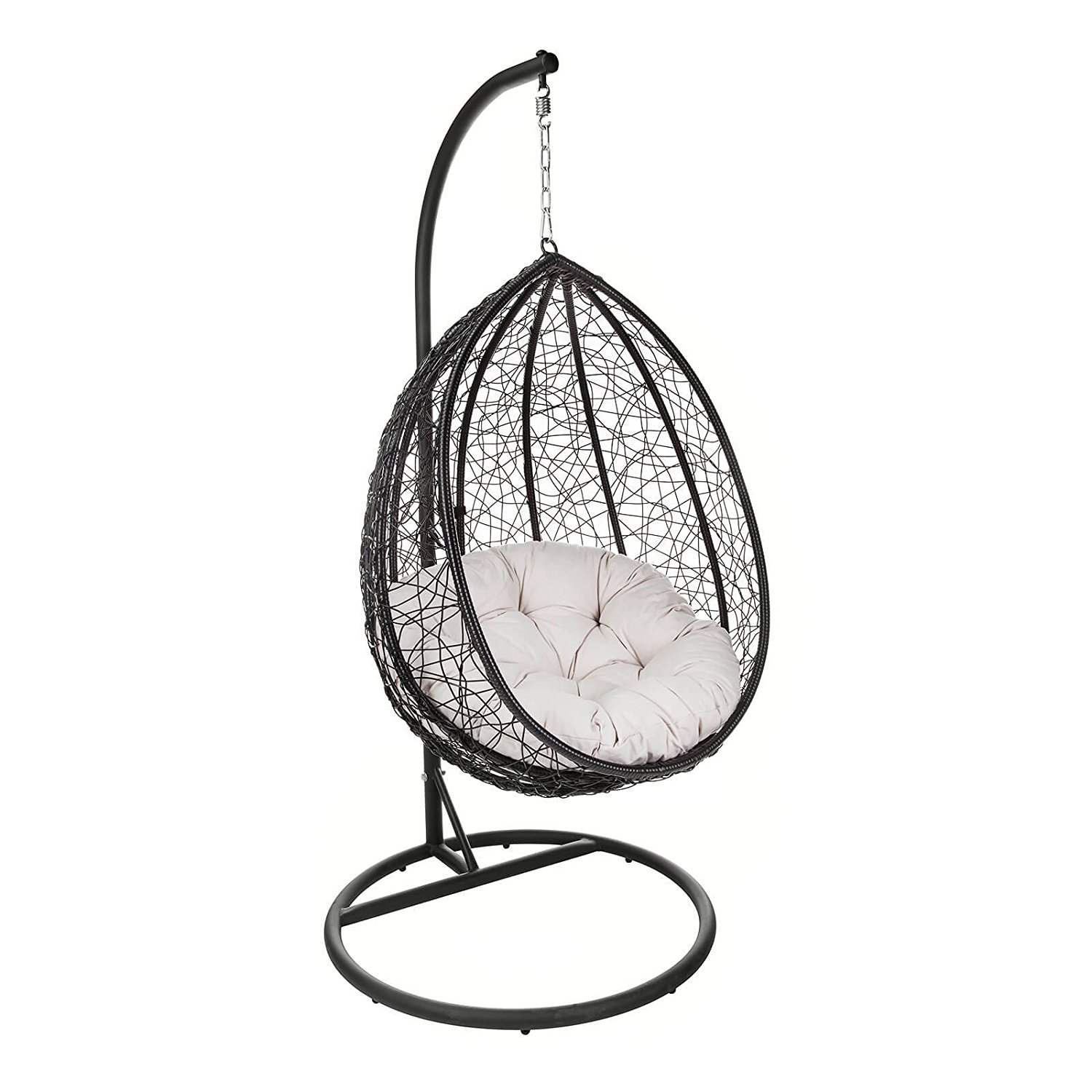 Outdoor Patio Hanging Chair Indoor Egg Swing Chair With Stand