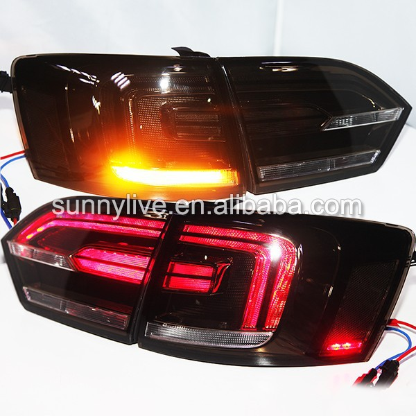 For VOLKSWAGEN 2011-2014 Year New Jetta MK6 Sagitar LED Tail Light Smoke Black TC