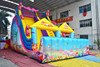 princess inflatable bouncer slide, inflatable dry slide, giant inflatable slide for sale