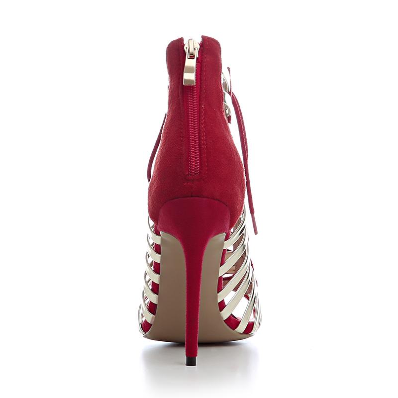 Heel Sandals Lace Sexy High Woman Woman Sandals Up Stiletto Footwear XEwXUqBI