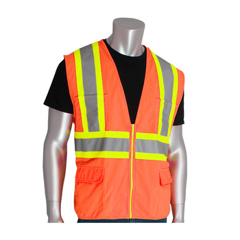 ANT5 orange two tone mesh safety vest reflective vest for industry