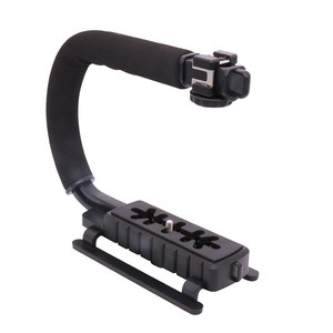 "Ulanzi U-Grip Triple Shoe Mount Video Stabilizer Handle Video Grip 1/4""-20 for Nikon Canon Camera filmmaking, for iPhone 7 plus"