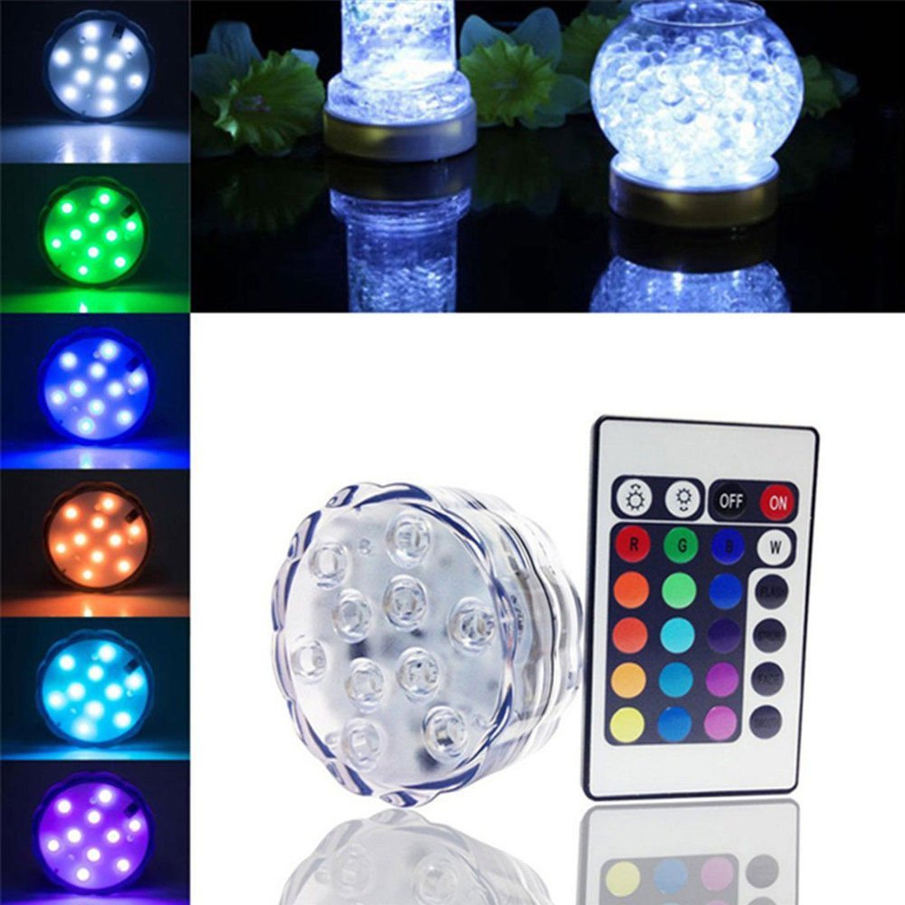 50PCS RGB Waterproof Submersible Lights Underwater light with Remote control for vase, party, wedding, bar decoration