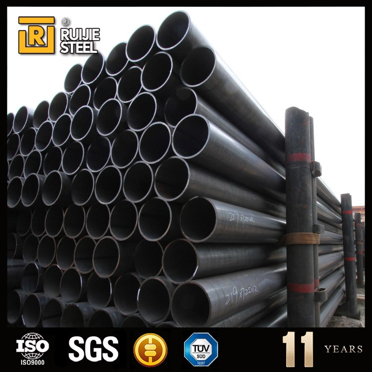 8 inch erw carbon tianjin steel pipe,oil well tubing,erw steel pipe black o.d. 76 mm