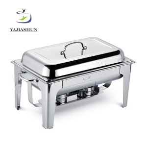 China Wholesale Economic Alcohol Rectangle Buffet Stove Cheap Stainless Steel Chafing Dish For Indian Market