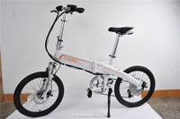 20 Inch Folding Electric Bike 36V 250W Electric Bicycle With Pedas/ Shima Derailleur / LCD Speed Display