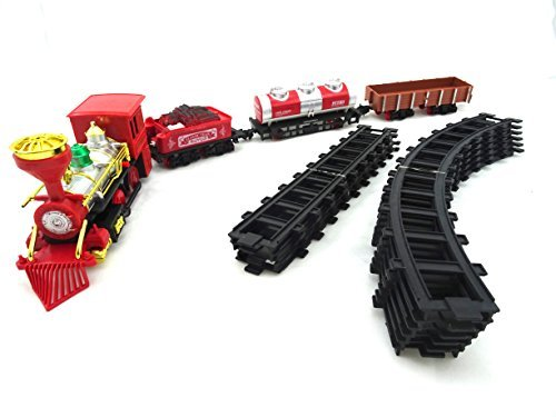 Ultimate Toy Train Track Set Includes Railway For Train Battery Operated Classical Train With 4 Cars And Track