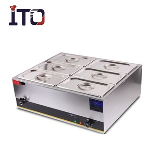 CI-080 Table Counter Top Stainless Steel Commercial Electric Buffet Hot Soup Food Warmer Bain Marie for sale