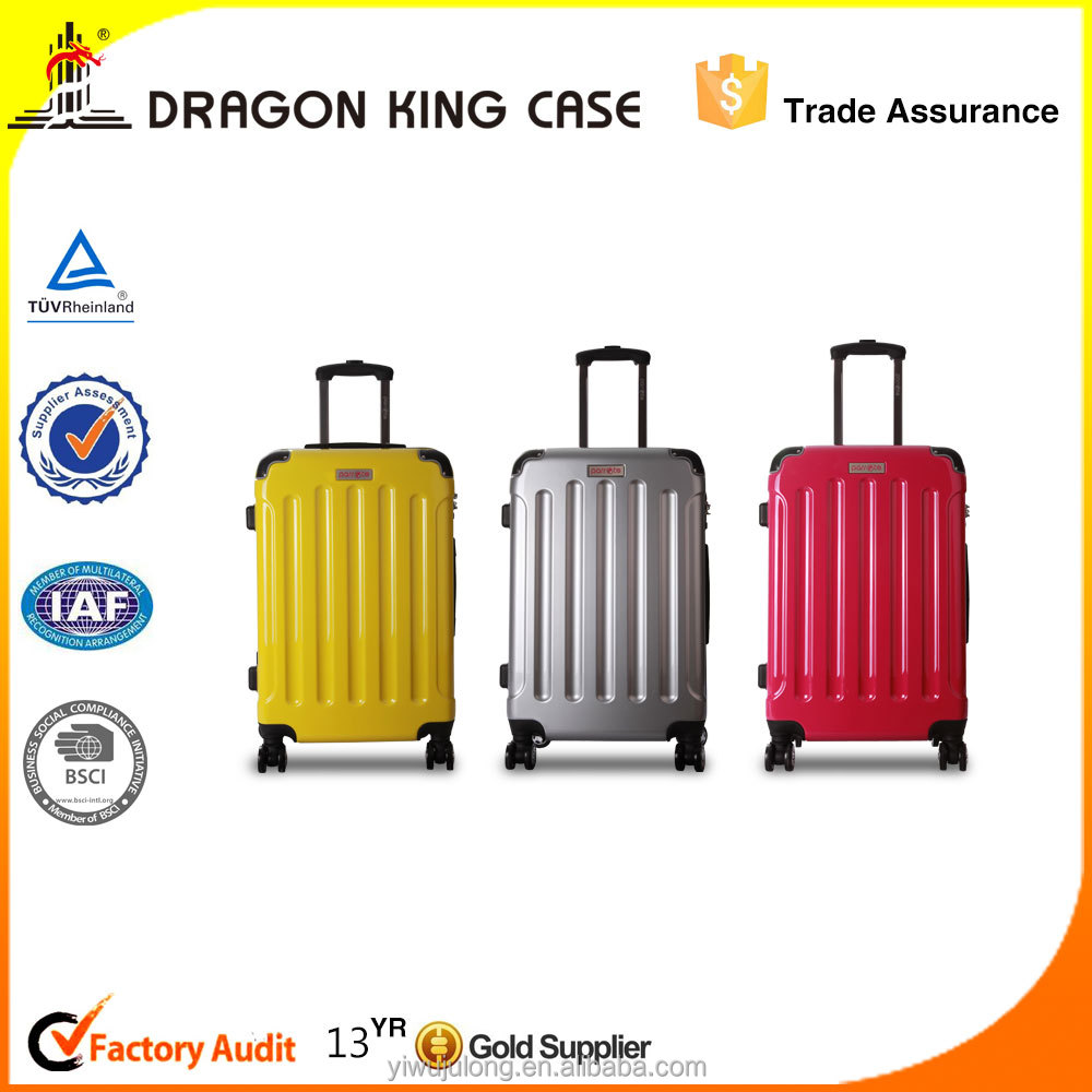 hardshell sweet colorful 100% ABS 4 Wheels 3pcs luggage bag/ rotatable suitcase