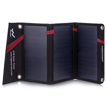 PowerGreen Universal Folding Solar Panel 21W 2-USB Solar Mobile Phone Charger for Travel