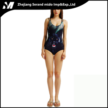 Knitted Women Sports Digital Workout Latest Wholesale Sexy one piece bikini