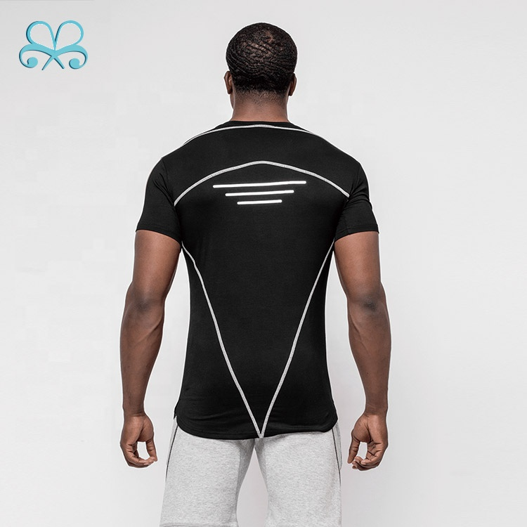 Best sale gym sport fitness jogging dry fit mens tees