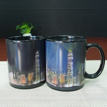 Christmas Gift Set For Guests Ceramic Coffee Sublimation Colour Changing Mugs