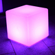 Waterproof Illuminated Rechargeable durable led cube chair furniture
