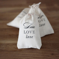 Wholesale promotion custom printing bulk eco small white cotton cloth drawstring shoe pouch bag