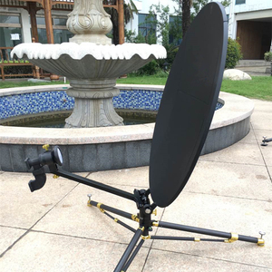 High Performance 0 6m RxTx Flyaway Tripod Mount Satellite Dish Antenna