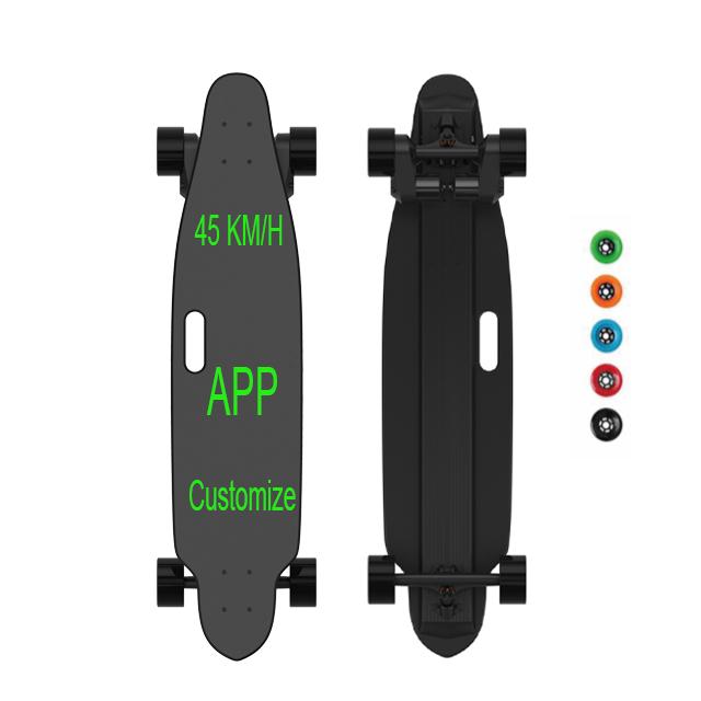45KM/H APP Control Fastest Wholesale 2000W Dual Belt Motor Boosted Electric Skateboard E Board