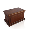 JS-URN258 Exported funeral supply wholesale cheap solid wood cremation urn