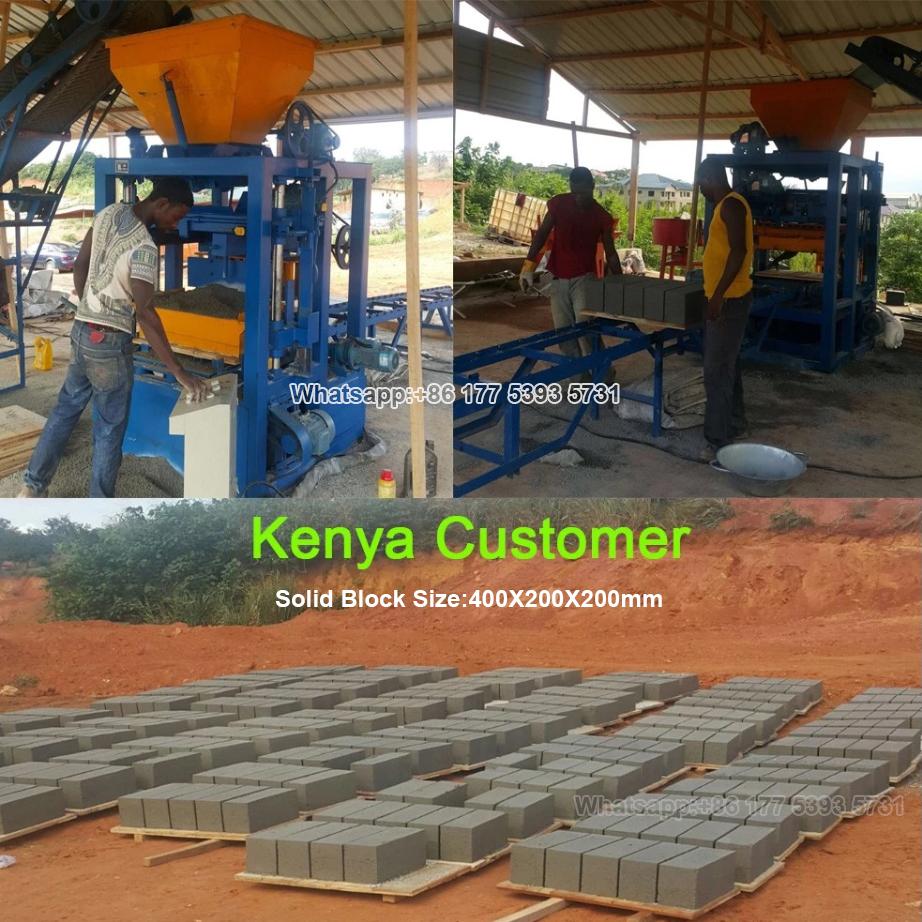 QT4-24 China semi automatic concrete block making machine brick