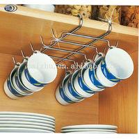 Chrome Wire Under Shelf Cupboard Cup Rack