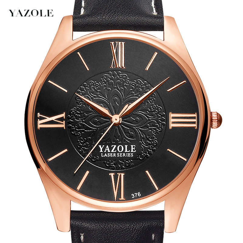 Yazole Z 376 Yazole Wholesale China Factory Cheap Price Men Wrist Logo custom watch, White dial/black dial