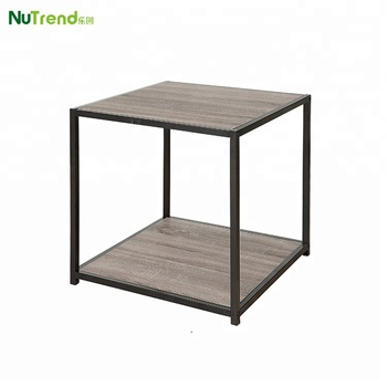 Ijzeren Side Table.Moderne Bank Metalen Frame Side Tafel Vierkante Nachtkastje Met Plank Buy Side Tafel Bank Bijzettafel Metalen Frame Bijzettafel Product On
