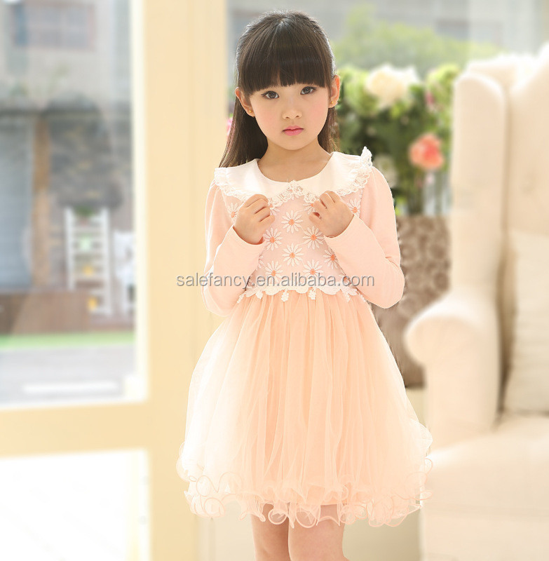 41e5671d1 Doll collar lace veil baby girl party wear western dress fashion children  frocks designs QGD-1701