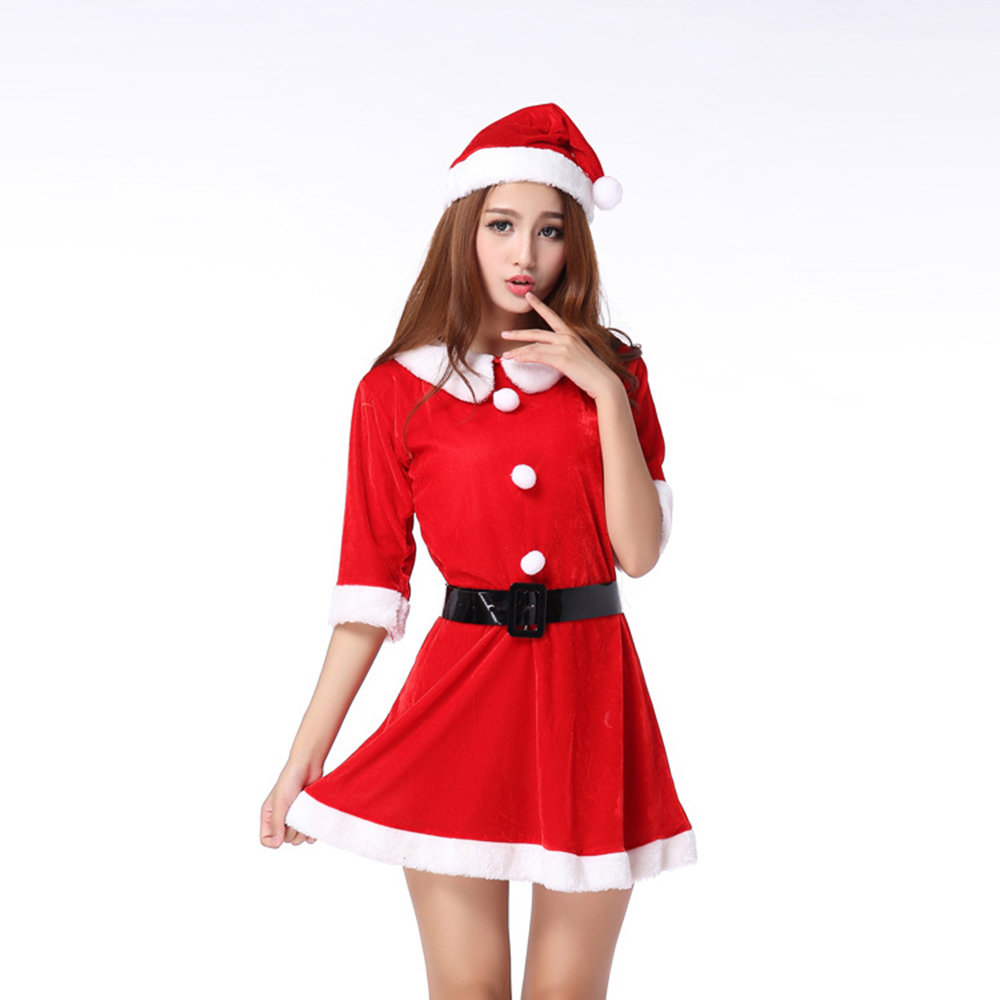 Christmas Ornaments Women Red Christmas Dress,Winter Women Dress ...