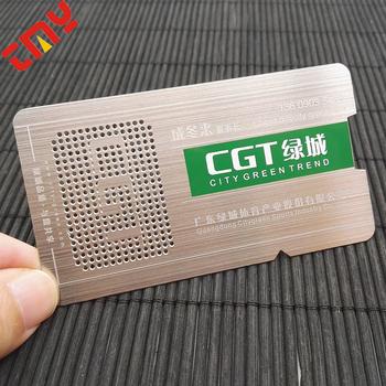 Personnalise En Metal Carte De Visite Acier Chine