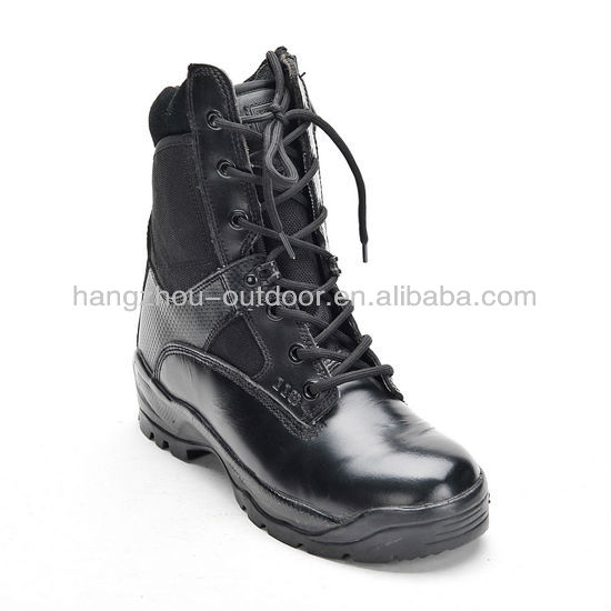 Mens Black Inside zipper delta tactical boots