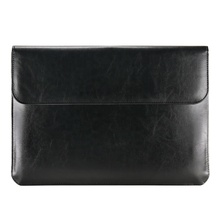 13.3 inch PU Lederen <span class=keywords><strong>Laptop</strong></span> Sleeve Case Cover met Document Zak en Kaarthouder voor Macbook Pro 13.3 2018/ 2017