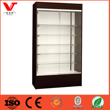 Custom Wooden Wall Cosmetic Glass Shelves Display Cabinet/makeup ...