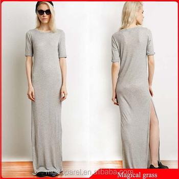 cd376847c5a Модные Простые Джерси Женщины платье оптовая макси платье плотная длинное платье  2015
