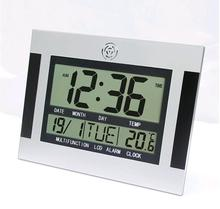 Clock with Timer and Thermometer Function Digital Alarm Wall Clock Decor Decorative Wall Clock