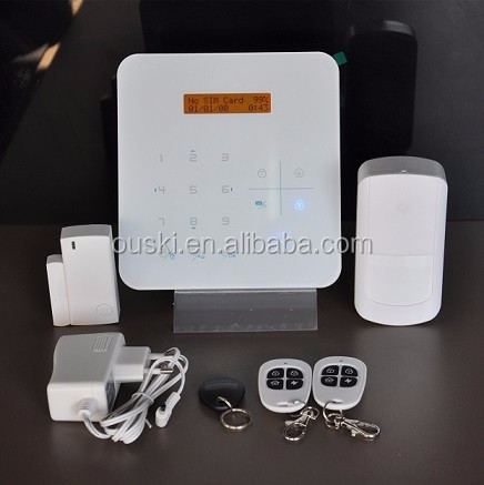 Smart GSM home alarm system integrate IP cameras smart switches PIR door window sensors