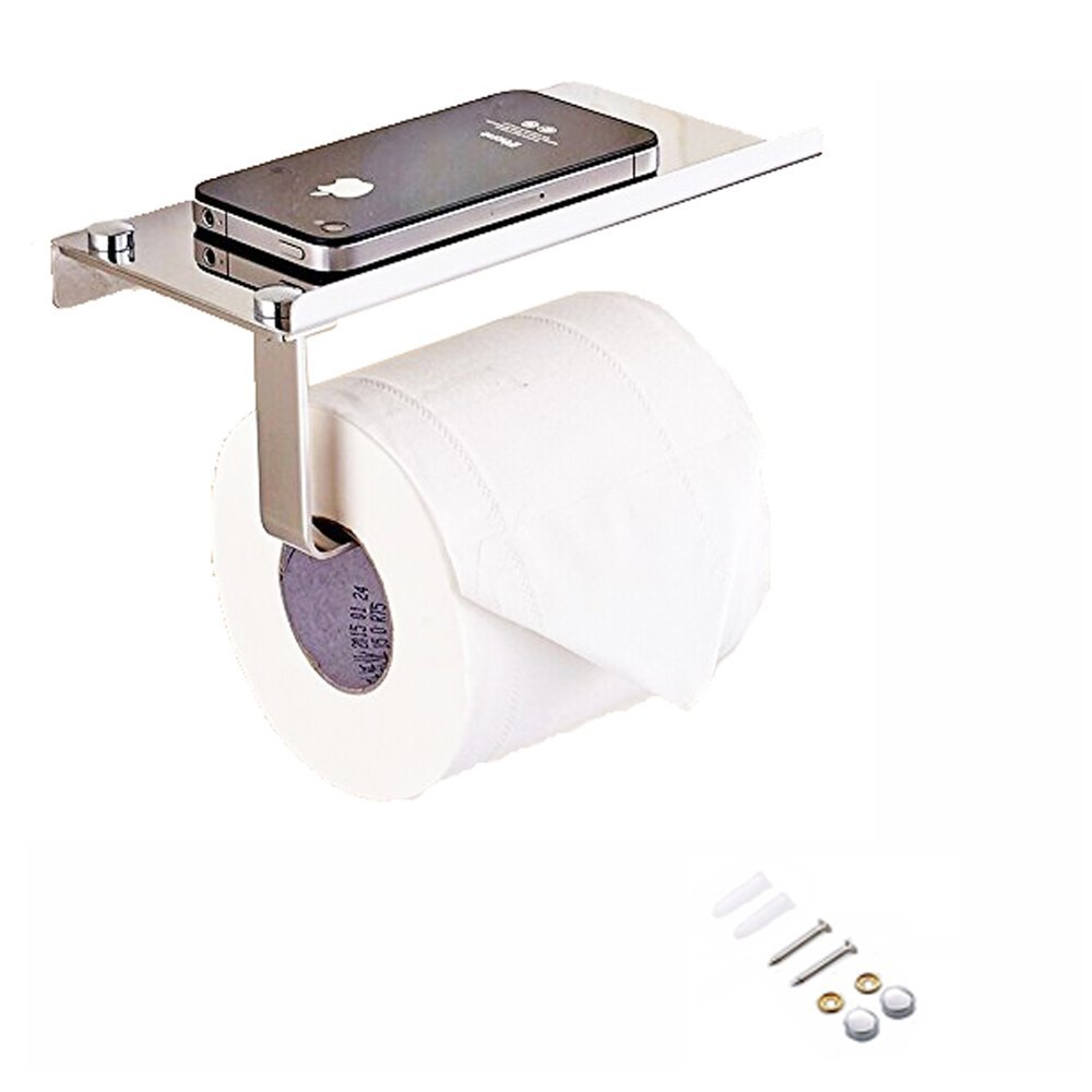 Get Quotations Honbay 304 Stainless Steel Toilet Tissue Paper Holder Stand Bathroom Kitchen