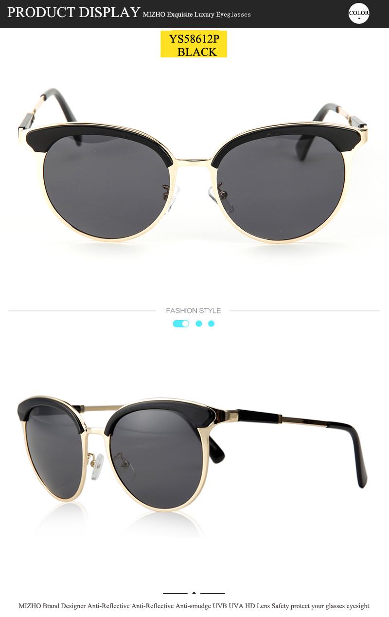 7ba6ab5545 MIZHO Vidrio Metal Star Polarized Sunglasses Women Cat Eye Vintage ...