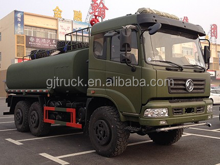 Dongfeng 6X6 all drive water tank truck with tank capacity 18000-25000 liters
