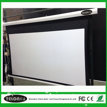 150 inch motrized tab tensioned screen ceiling mount for Tab tensioned motorized projection screen