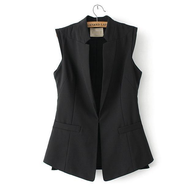 Элегантный офис-леди белый пальто лето стиль блузы кардиган приталенный жилет без рукавов куртка пиджаки резервуары топы 2174