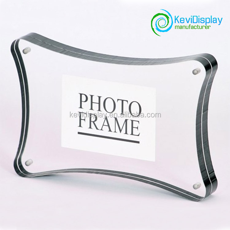 Irregular shape acrylic photo frame with screw