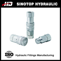 FF flat face type hydraulic quick release coupling