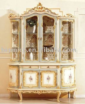 European Style Hand Painted Furniture Display Cabinet