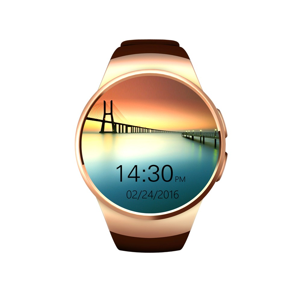 smart watch 1.3 inch Smartwatch KW18 <strong>sim</strong> MTK2502C sliver/gold/black clock with heart rate monitor Call Reminder