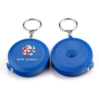 Promotional small unique gift ideas novelty keychain tape measure china Printed logo