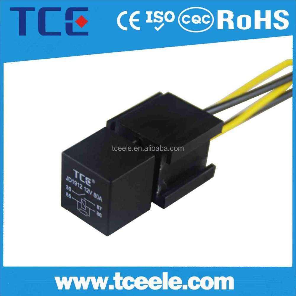 China Auto Relay 5pin 12v 80a Universal Car Wiring Automotive Spdt 5 Pin Sockets Wire Manufacturers And Suppliers On