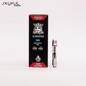 2019 latest Wholesale horizontal ceramic coil kingpen vape cartridge with gift box
