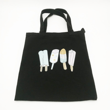 Custom Black Zip Top Heavy Canvas shopping Tote Bag