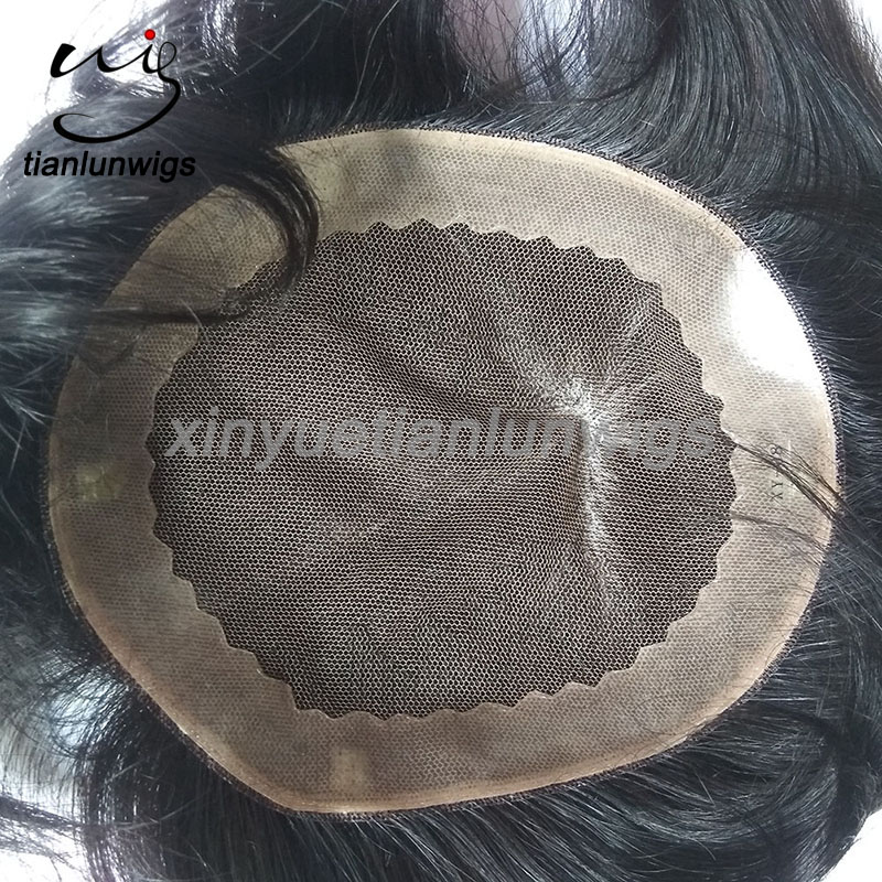 100% Human Hair Material and Yes Virgin Hair Men's hair systems toupee for men male wigs wholesale price