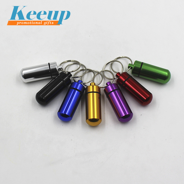Eco mini capsule tablet pill titular pílula keychain do Metal chave titular